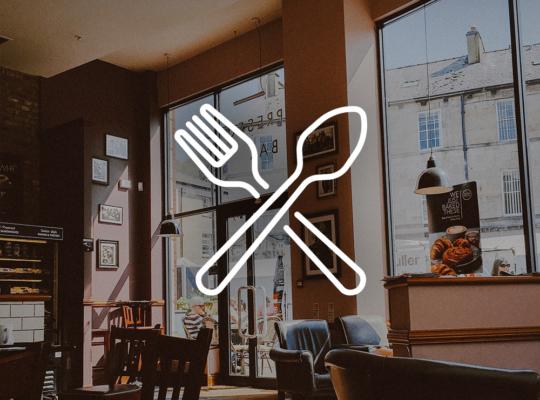 Restaurant mit einem Besteck-Icon