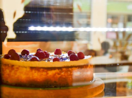 Kuchen in Auslage