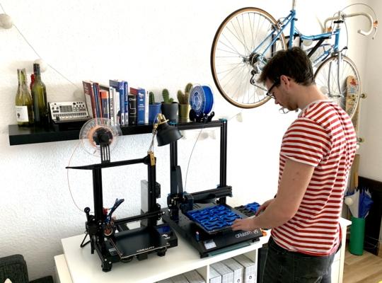 Tür-rex in der Produktion mithilfe eines 3D-Druckers