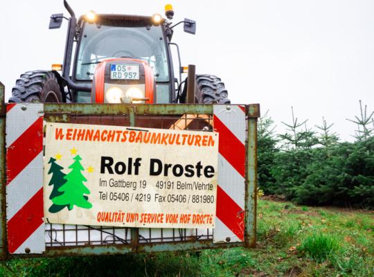 Hofdroste Weihnachtsbeaume Traktor Droste 2020 12